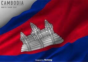 Fond de drapeau cambodgien de vecteur
