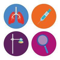jeu d'icônes médicales vecteur