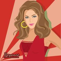 Beyonce American Singer vecteur