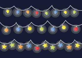 Vecteur gratuit de lumières de Noël