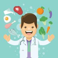 Nutritionniste plat vecteur