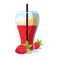 Smoothie à la fraise vecteur