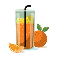 Smoothie à l'orange vecteur