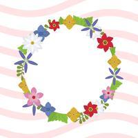 Illustration vectorielle de printemps plat Couronne