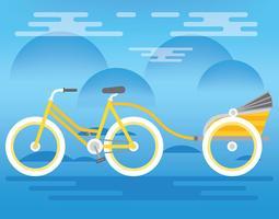 illustration de trishaw vecteur