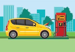 Concept de station de recharge de voiture électrique