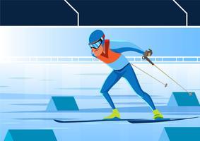 Jeux olympiques d'hiver Corée Sports vecteur