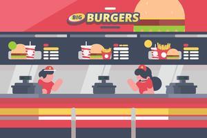 Illustration de la cour de nourriture vecteur