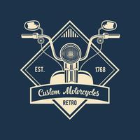 Emblème de motos Vintage vecteur