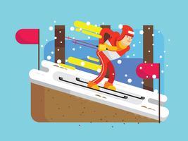 Vecteur de Corée olympique d'hiver