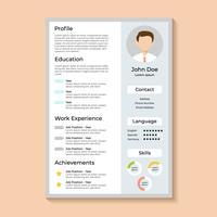 CV d'entreprise vecteur