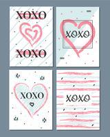 Vecteur de cartes de Valentine