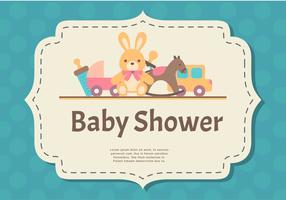 Carte de douche de bébé vecteur