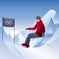 Vecteur d'hiver de snowboard