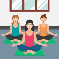 Méditation fille Illustration vecteur
