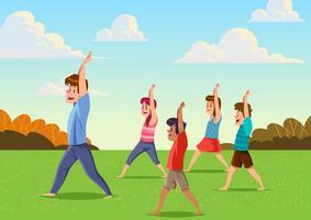 Cours de yoga pour enfants en plein air