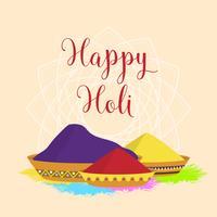 Plat holi festival de vecteur de couleurs