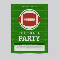 Vecteur de flyer fête du football américain gratuit