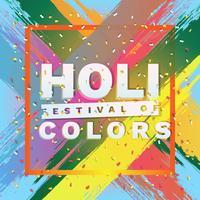 Joyeux Holi sur Illustration de fond Abstrait coloré Splash