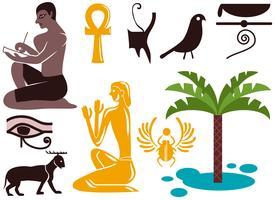 Vecteurs de l'Egypte ancienne vecteur