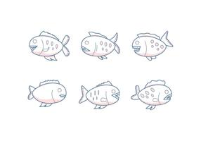 Vecteurs exceptionnels libres de Piranha vecteur