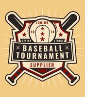 vecteurs iconiques de baseball vintage vecteur