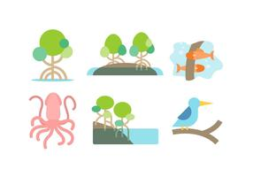 Vecteur de mangrove gratuit