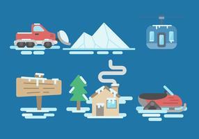 Vecteur de neige gratuit