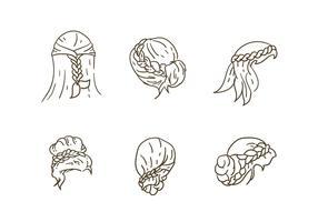 Vecteurs de collection de cheveux gratuit