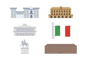 Vecteurs iconiques gratuits de l'Italie