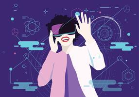 Vecteur de réalité virtuelle expérience vol 2