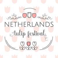 Festival de tulipe des Pays-Bas Template Vector