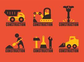 Vecteur de collection de Logos de construction