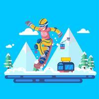 Jeux olympiques d'hiver 2 vecteur