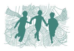 Illustration vectorielle gratuite de Siluetas vecteur