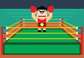 Boxer Holding Ceinture De Championnat