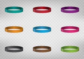 Bracelet en caoutchouc multicolore vecteur