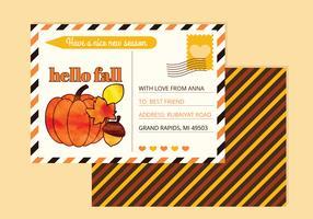 Carte postale d'automne de vecteur