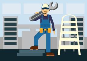 Réparer l'homme Vector Illustration