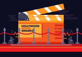 Vecteur de tapis rouge hollywood