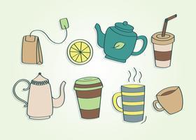 Vecteur de thé dessiné à la main