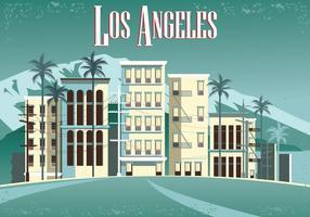 La plage de Venise à Los Angeles. Belle plage en Californie de Los Angeles Vintage vecteur