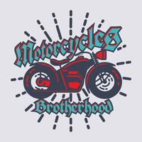 Emblème de moto vintage vecteur