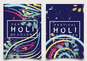 Conception de l'affiche Festival des couleurs de Holi vecteur