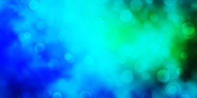 texture de vecteur bleu clair, vert avec des cercles.