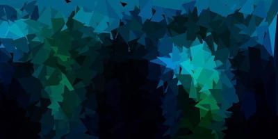 texture de triangle poly bleu foncé, vert vecteur. vecteur