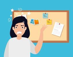 femme avec crise de stress