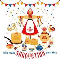 sur le thème du carnaval des fêtes russes vecteur