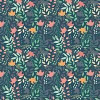 modèle sans couture automne avec éléments décoratifs floraux, design coloré. vecteur