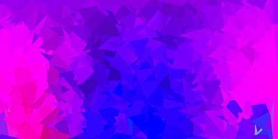 modèle de mosaïque triangle vecteur violet foncé, rose